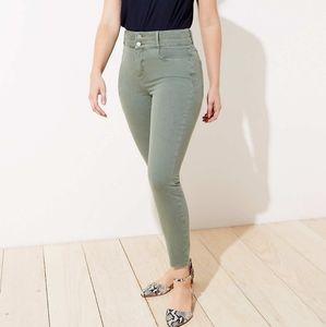 NWT LOFT Curvy Double Shank High Rise Skinny Jeans